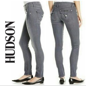 LIKE NEW Hudson Gray Collin Flap Skinny Jeans 27 4